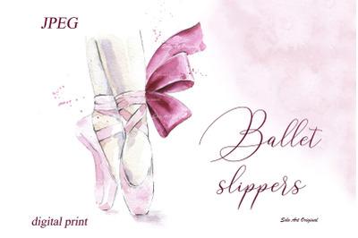 Ballet slippers Ballerina shoes Printable poster