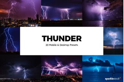 20 Thunder Lightroom Presets & LUTs