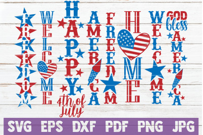 4th Of July Porch Signs Bundle