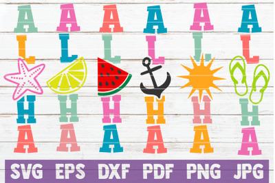 Aloha Summer Porch Signs Bundle