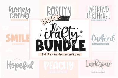 BIG Crafty Font Bundle - 30 Fonts