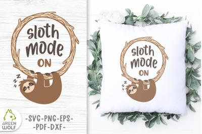 Sloth svg cut file Sloth mode svg Color layered svg files for cricut