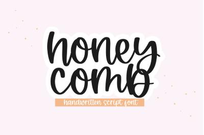 Honeycomb - Handwritten Script Font