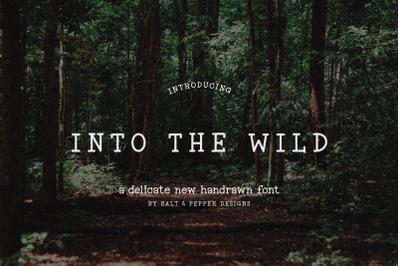 Into the Wild Font (Serif Fonts, Rough Fonts, Vintage Fonts)