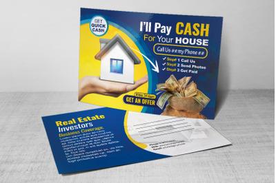 Real Estate Investors Postcard Template