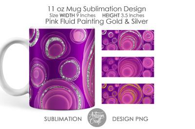 11 oz Mug sublimation designs, fluid painting