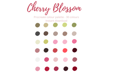 Cherry Blossom Procreate Palette/Swatch