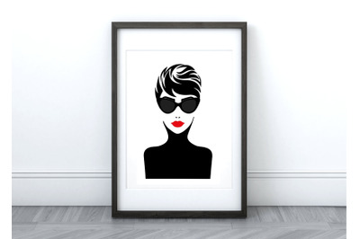 Audrey  Printable Wall Art/Graphic