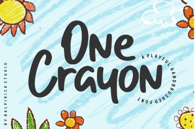 One Crayon Playful Handbrushed Font