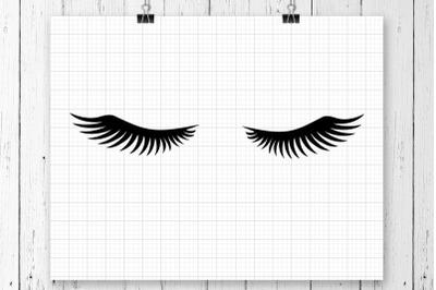 Eyelashes SVG Clipart Printable