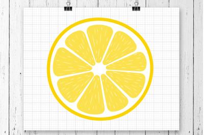 Lemon Slice SVG Clipart Printable