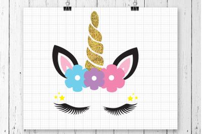 Unicorn Head SVG Clipart Printable