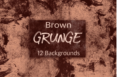 12 Brown Grunge Backgrounds.