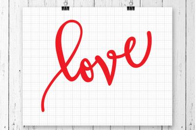 Love SVG Printable