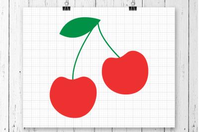 Cherries SVG Clipart Printable