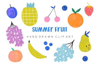 Cute fruit clipart