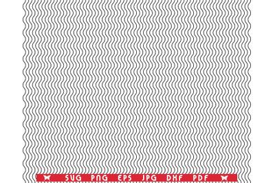 SVG Wavy black lines, Seamless pattern, Digital clipart