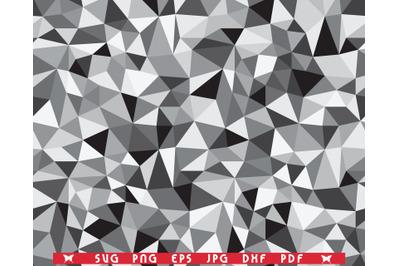 SVG Gray Triangles, Seamless Pattern digital clipart