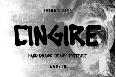 Cingire - bold and scary font