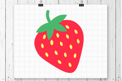 Strawberry SVG Clipart Printable