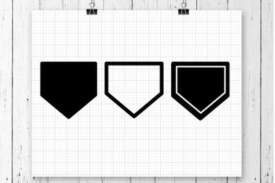 Baseball Homeplate SVG Clipart