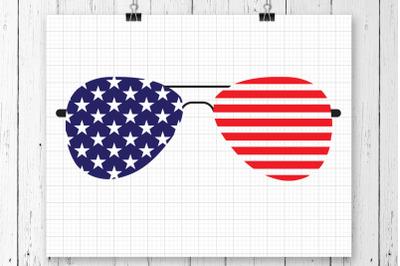 Flag Glasses SVG Clipart Printable