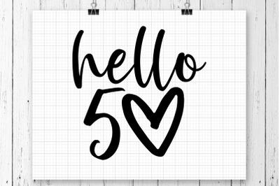 Hello 50 SVG Printable