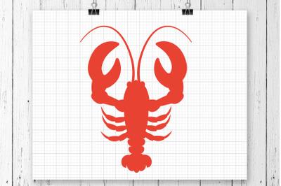 Crawfish SVG Clipart Printable