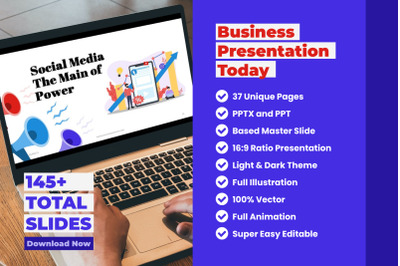 Business Presentation Today - PowerPoint Template