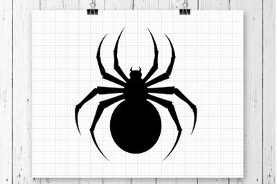 Spider SVG Clipart Printable