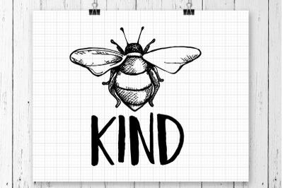 Bee Kind SVG Printable