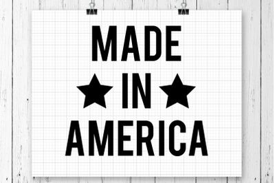Made In America SVG Printable