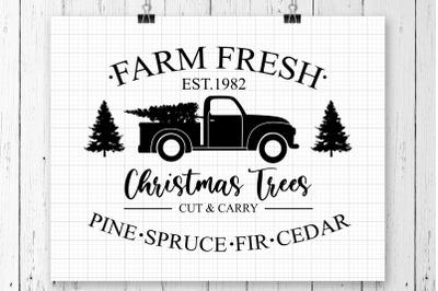 Farm Fresh Christmas Trees SVG Printable