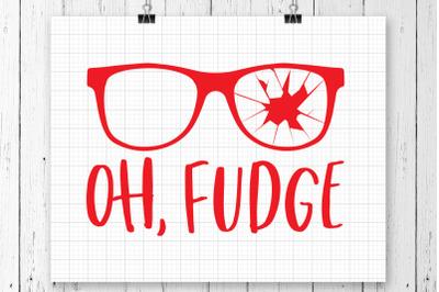 Oh Fudge SVG Printable
