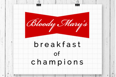Bloody Mary's SVG Printable