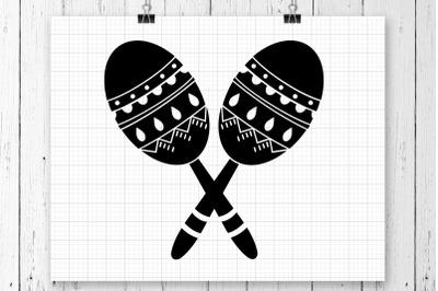 Maracas SVG Clipart Printable