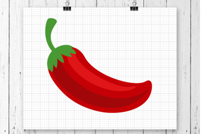 Red Chili Pepper SVG Printable