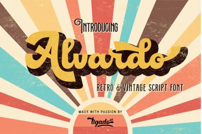Latest Trending Vintage Font - Alvardo - Retro Bold Script