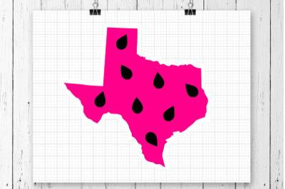 Texas Watermelon SVG Clipart