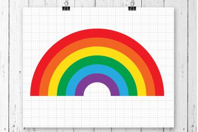 Rainbow SVG Clipart Printable