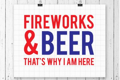 Fireworks And Beer SVG Printable