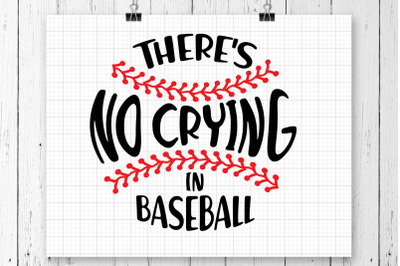 There's No Crying In SVG Printable