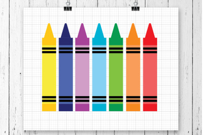 Crayons SVG Clipart Printable
