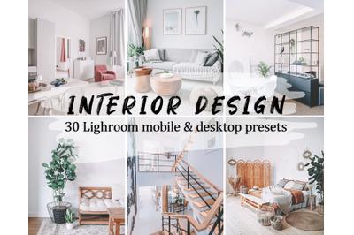 30 Interior Design Lightroom Presets - Lightroom Mobile & Desktop Pres