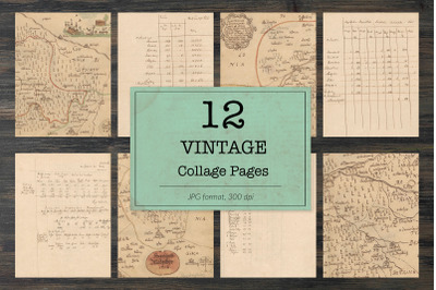Vintage maps, letters and notes