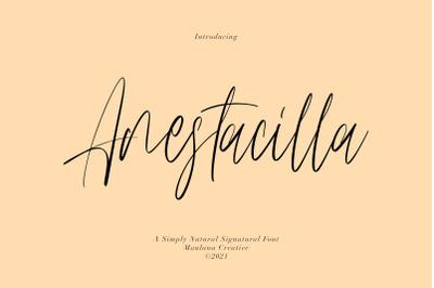 Anestacilla Girly Signature Font