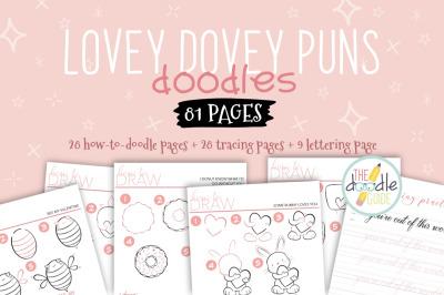 Lovey Dovey Puns Doodle Book