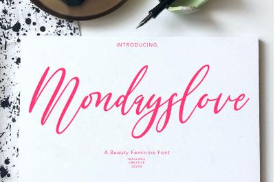 Mondayslove Feminine Signature Font