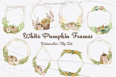 White Pumpkins Frames