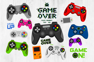 Video Game Clipart, Video Game Controllers, Video Games